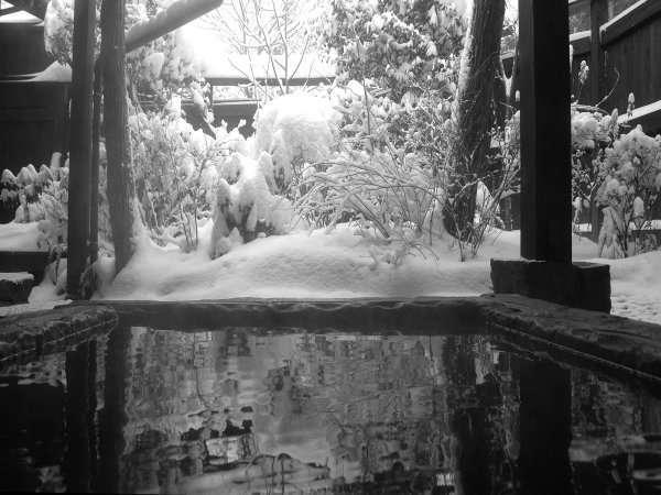 【客室半露天:久住】冬には雪見露天ができるかも!?