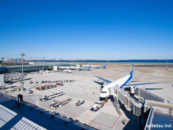 羽田空港から浜松町駅まで電車で1本とホテルまでのアクセスも抜群!