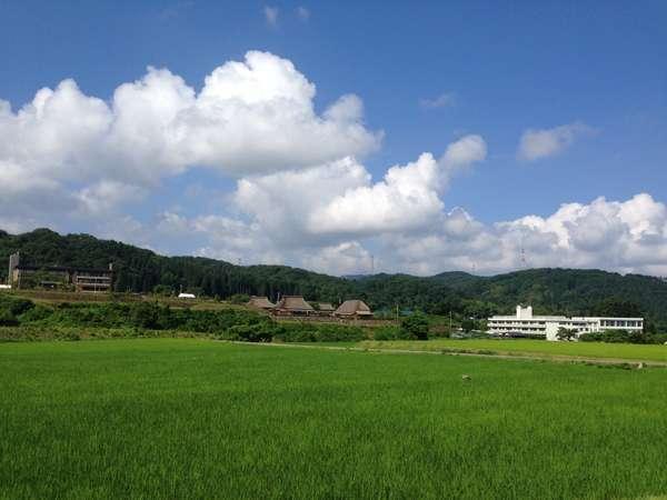 湯涌(ゲストハウス周辺)田園風景。A rural landscape around the guest house.