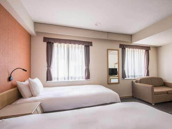 <客室>◆スタンダードツイン◆ 22平米【ベッド120cm x 205cm】