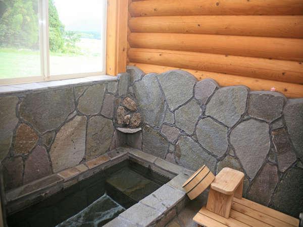 岩風呂になります。
