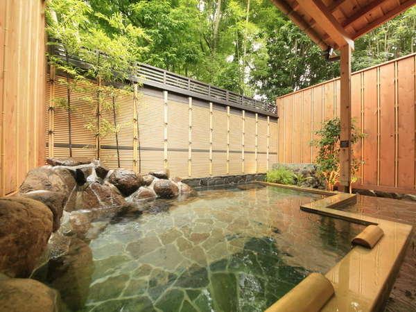 森の中の隠れ湯『竹の湯』の露天風呂