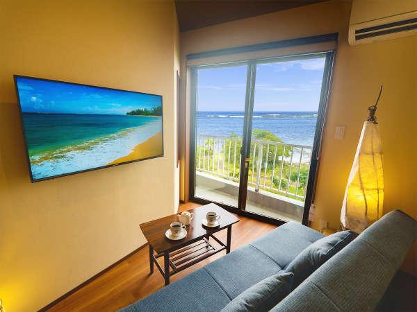 ◆リニューアル客室イメージ◆海を眺めながらソファーで寛ぐひととき♪自然の音に耳を傾ける癒しの時♪