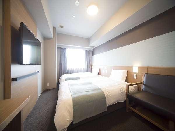 ◆【禁煙】ツインルーム約20平米※サータ社製ベッド(1200×1950 2台)約20平米