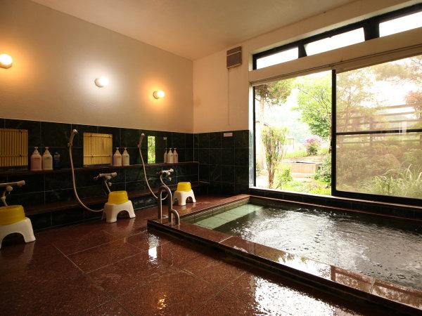 《男湯》庭を見渡しながらのんびりと温泉浴