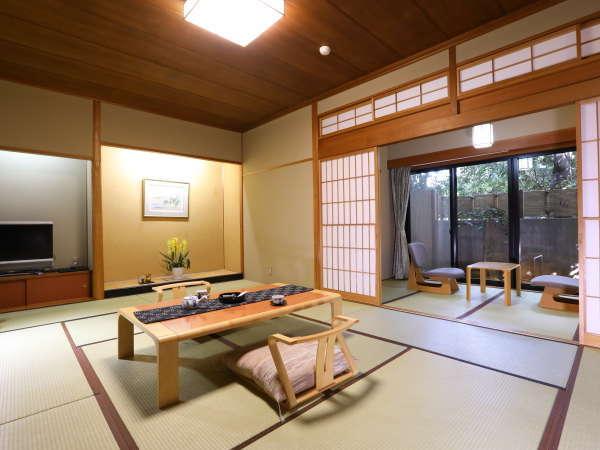特別室 桃生(ものお)/和室12畳+信楽焼陶器風呂