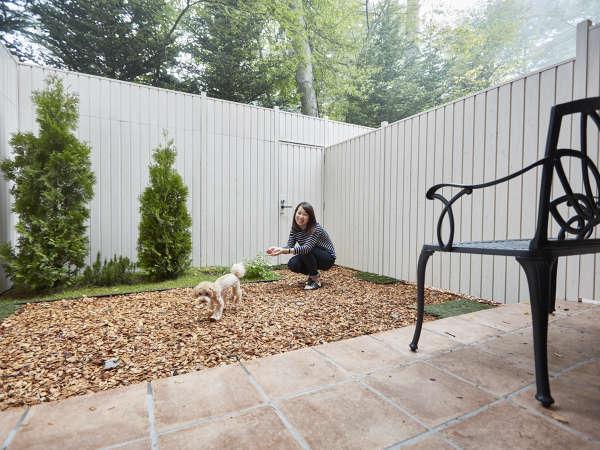 ガーデンツインは専用のお庭付き【ペット客室一例】