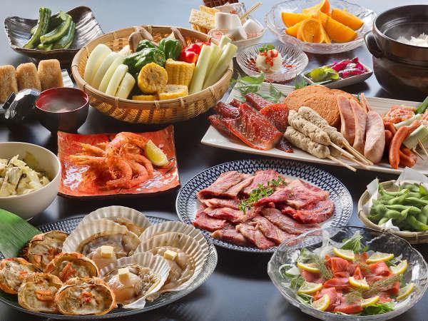 ■基本会席■素材本来の美味しさを五感で堪能できる『炉端焼き』にてお食事をお楽しみください。