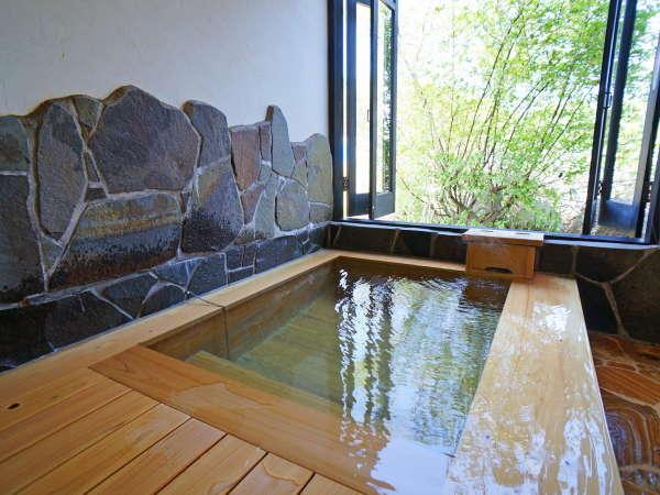 【貸切温泉】寒い日も安心の内湯は、贅沢に貸切でごゆっくりご入浴下さいませ。