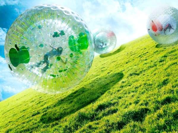 自然の起伏に恵まれた大地を、全身で転がり落ちていく ボール型ライド「キャニオン・ドロップ」