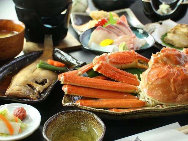 (茹で蟹付き海鮮コース)日本海に来たからには蟹でしょう!!茹で蟹付海鮮コース