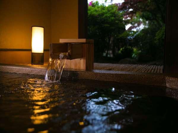 かけ流しの天然温泉