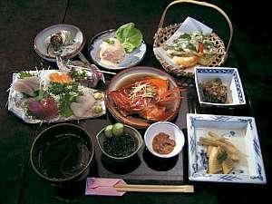 伊豆の旬の素材がそろったお料理