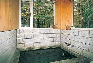 緑のパノラマと共に清潔感漂よう気持ちいいお風呂
