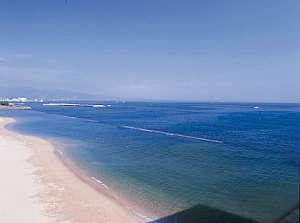 【散策にオススメ】スパビーチはロビーから徒歩30秒