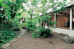 ◆山野草が楚々として美しい中庭