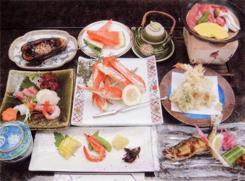 季節の会席料理 夕食一例