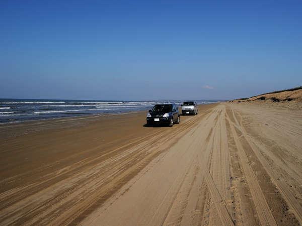 車も走れる千里浜なぎさドライブウェイまでは当館より徒歩12分☆