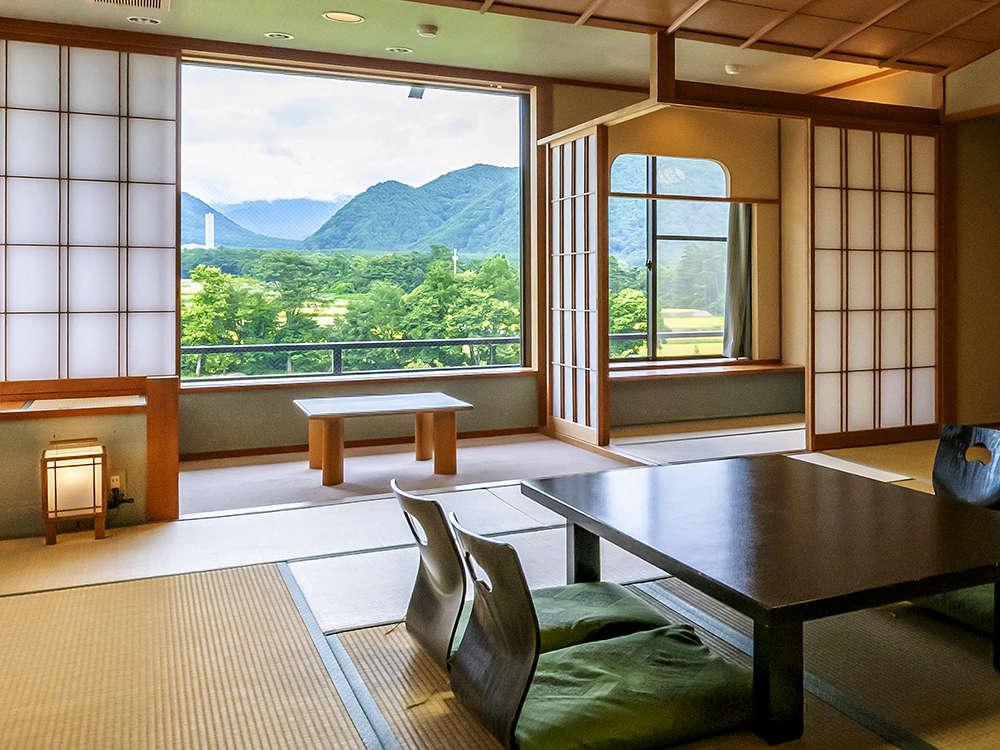 【葵館和室】のどかな自然に癒される、ゆったりした寛ぎ空間