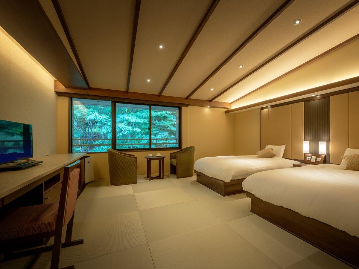 ■デラックスツインルーム/上質な空間でゆったりとお寛ぎください