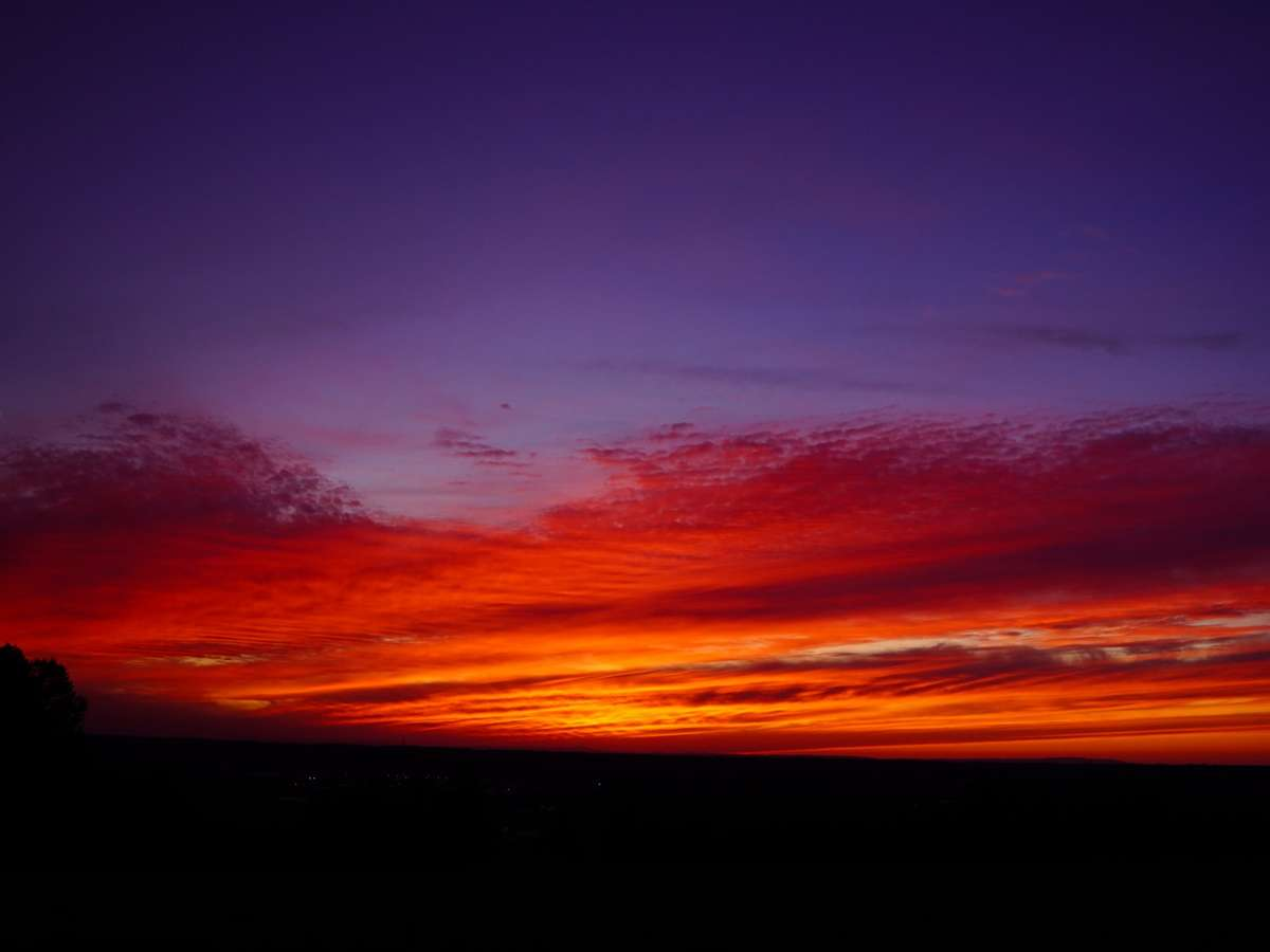感動の夕陽 清里イーハトーヴからのマジックアワー