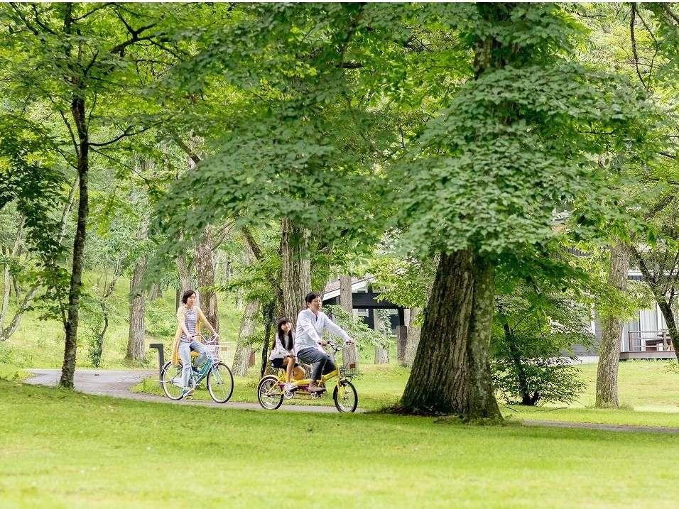 自然の空気を吸い込みながらサイクリングでリフレッシュ♪