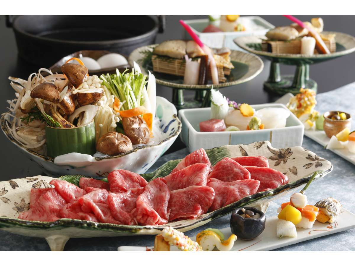 すき焼き鍋・松茸(一例・二人前盛り)2