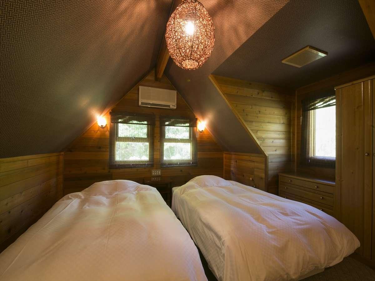 アジアンコテージ(ベッドルーム):アジアンテイストのロマンチックな雰囲気★