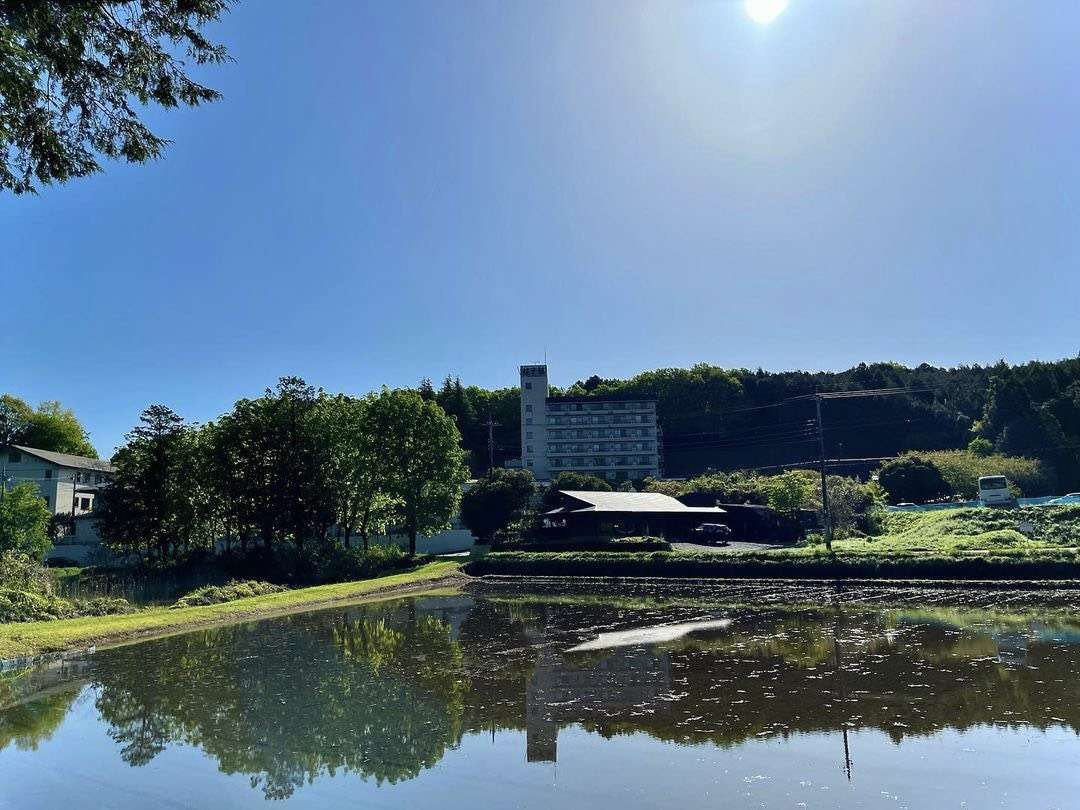 益子舘と田園風景
