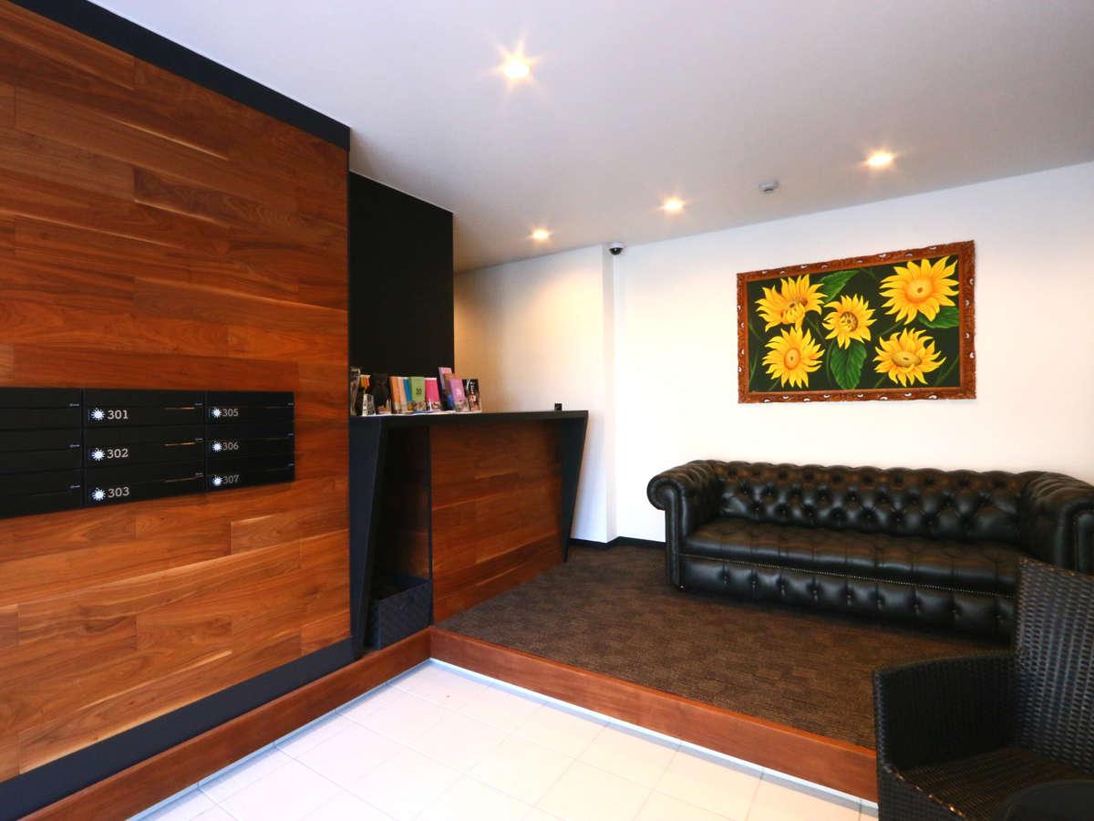 当館のフロント&ロビー★まるで海外の雰囲気
