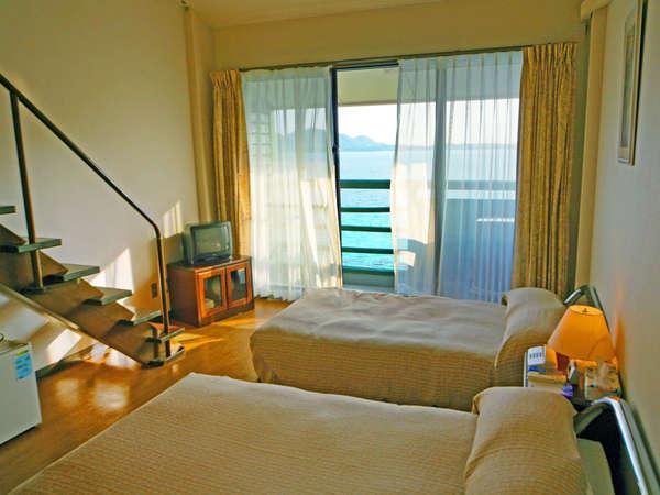 ■メゾネット(一例)■6名までご宿泊可能なメゾネットタイプのお部屋。もちろんオーシャンビューです♪