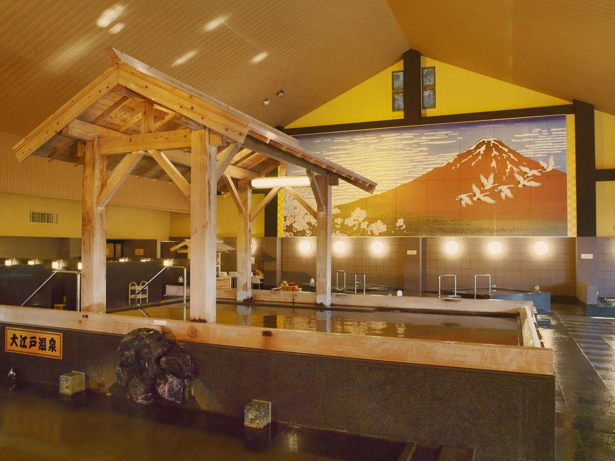 大江戸温泉(内湯)  大浴場の赤富士も必見です