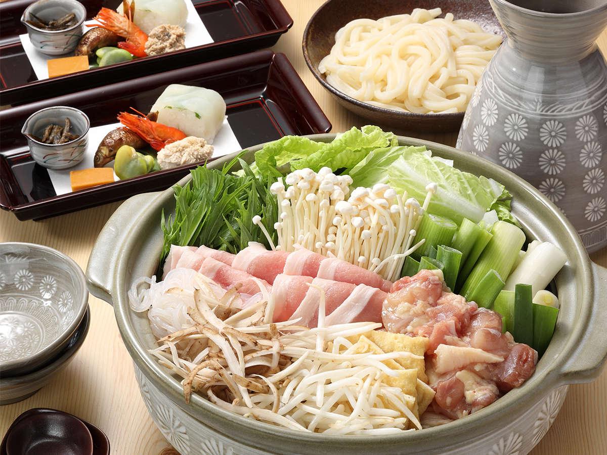 【ちゃんこ鍋】豚肉・鶏肉、そして野菜たっぷりのおいしいお鍋です。※イメージ