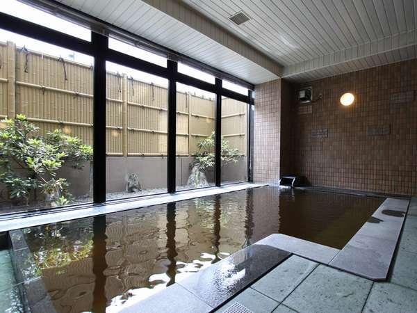 ☆天然モール温泉(加水加温)の浴場でゆったり♪深夜2時まで、朝5時から利用できます(写真は男性用)