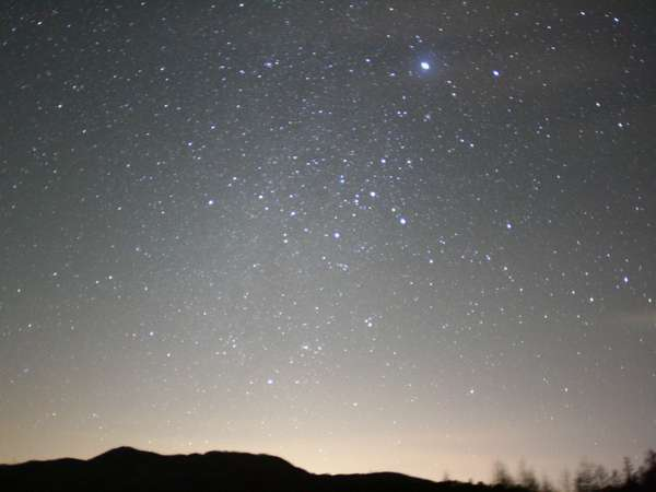 清里の夜の楽しみは夜空に輝く星空です☆