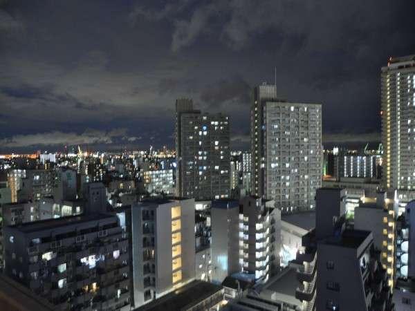 【ダブル:17.5㎡】高層階14階のお部屋からの夜景例