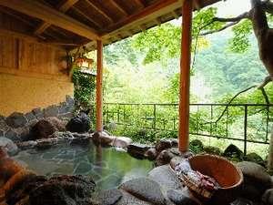 渓谷を望む貸切露天風呂『もみぢ谷』