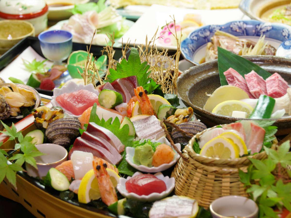 熊野牛カットステーキと特選海の幸の饗宴♪料理長お薦め料理ぷらん「紀州路会席」