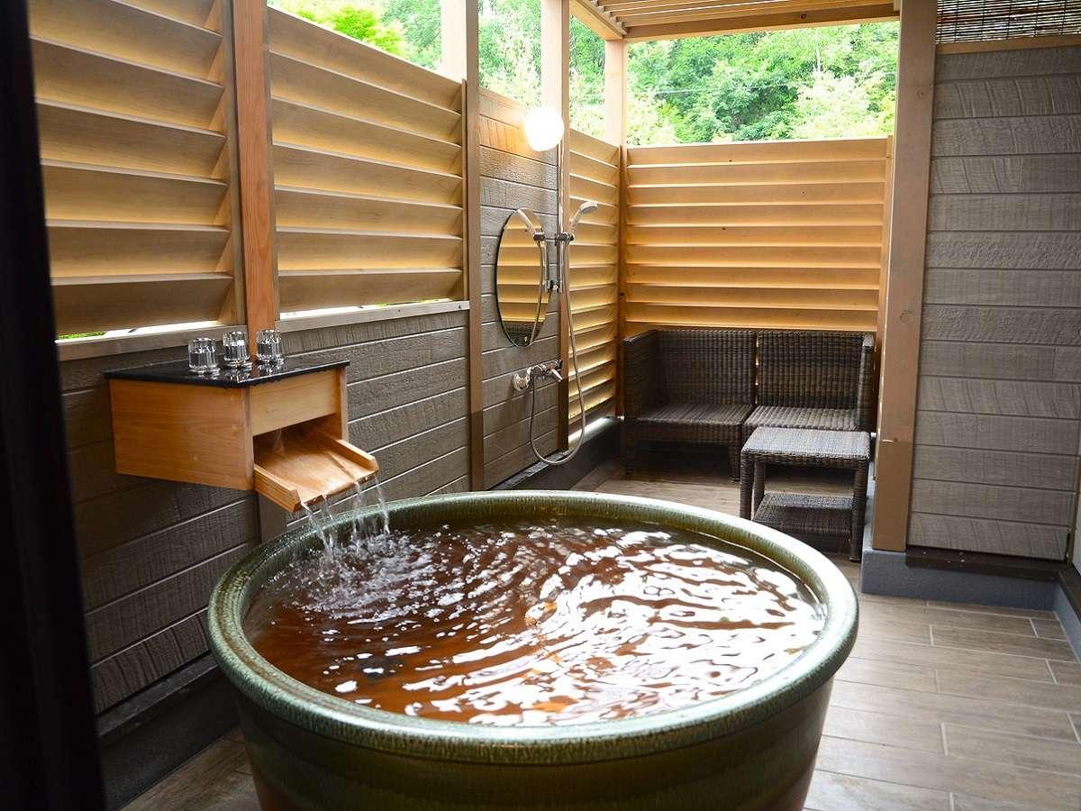 天然温泉をお部屋で『森の中の露天風呂』付プレミアムスーペリアツイン56㎡