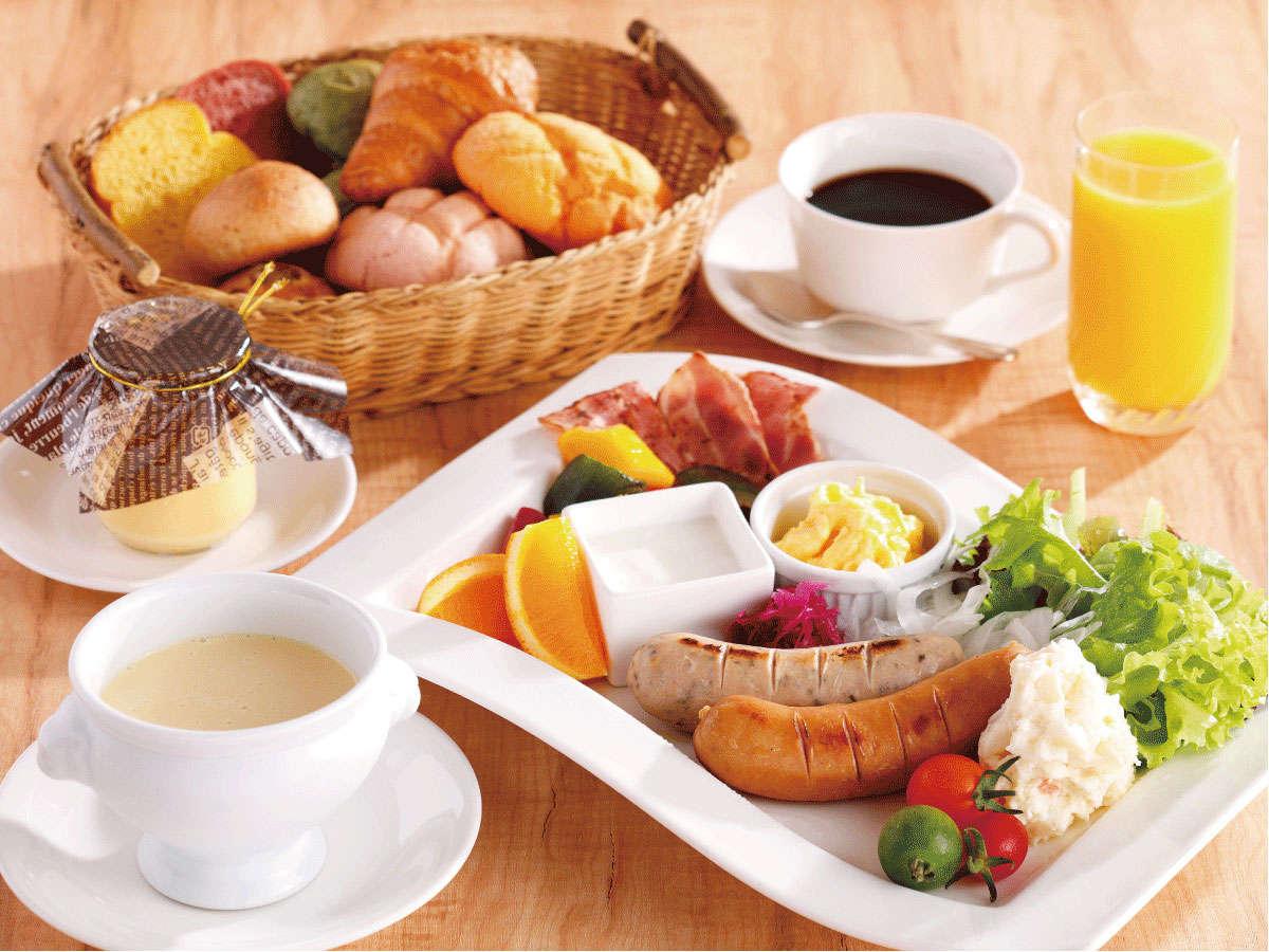 【個食対応】朝食(洋)。客室でお召し上がりいただけます。