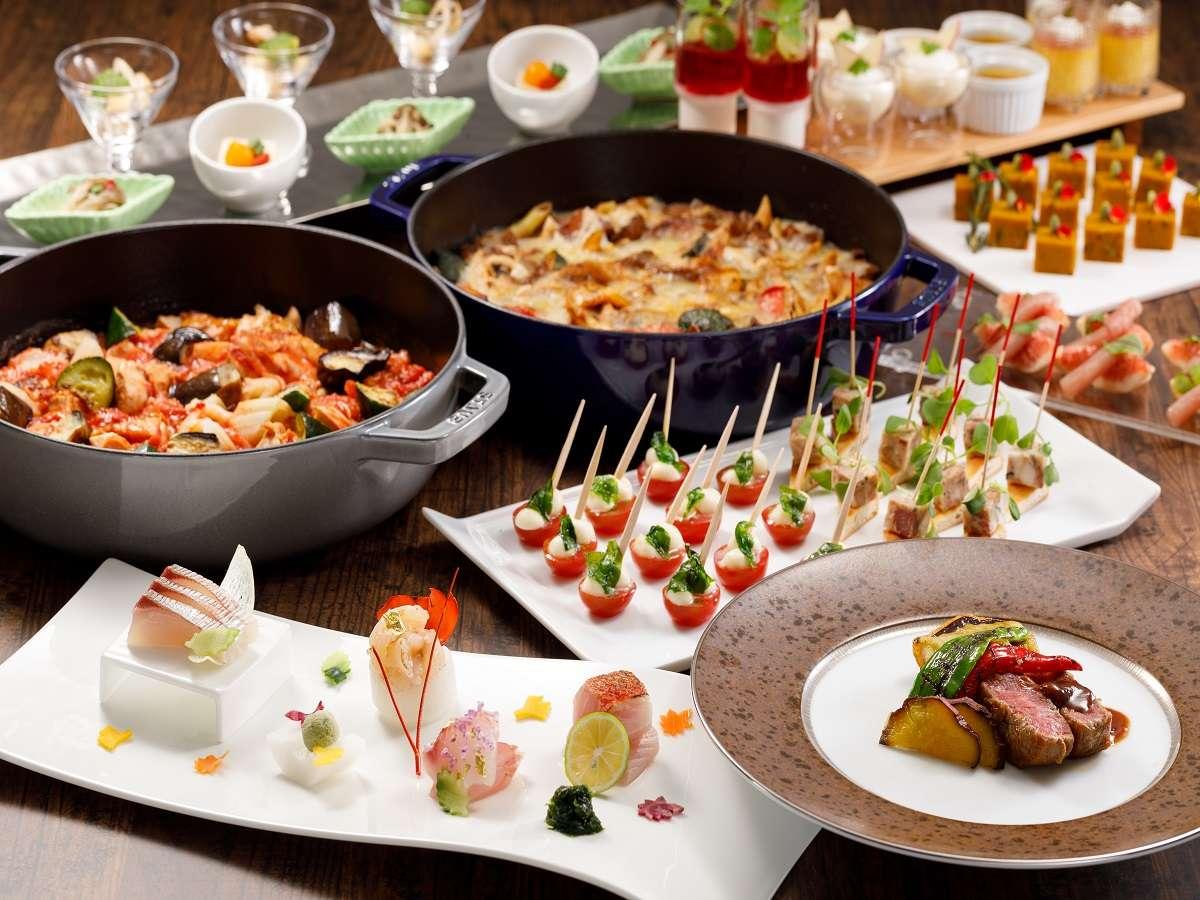 *プリフィックスディナー(一例)前菜、サラダなどの副菜は複数種類よりお召し上がりいただけます。