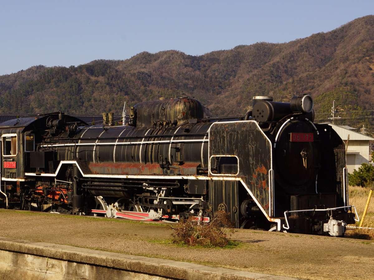 【旧大社駅】昭和49年11月30日本州を最後に走ったD51形774号機