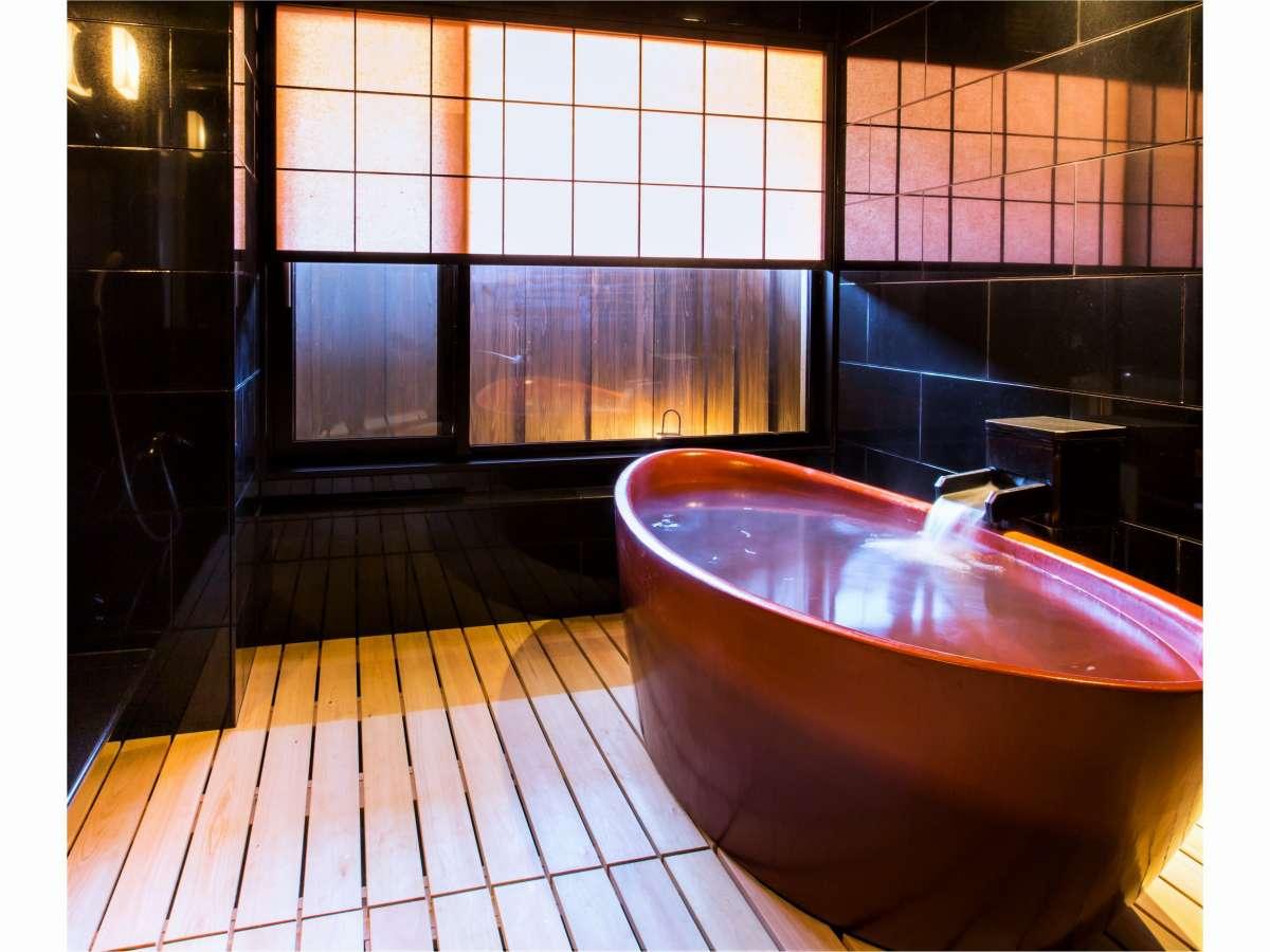 【貸切風呂】~漆の湯~天然温泉(大社の湯)が流れています