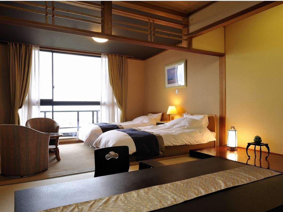 ベッド付和洋室、洋室の機能と和室の落ち着きを備える