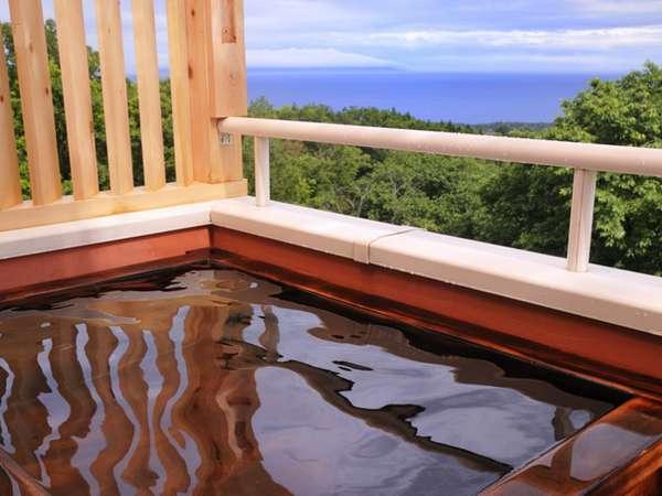 海 大島 庭を望む 専用露天風呂
