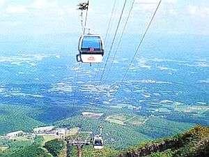 安達太良山のゴンドラで空中散歩