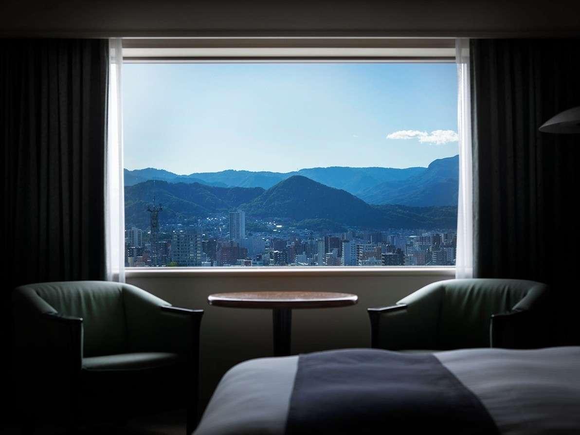 18,19階確約のエクシードツインルームから札幌の景色を一望♪