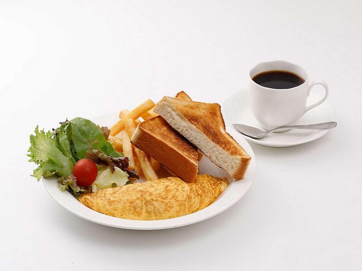 Dセット:ハムチーズオムレツ&トースト