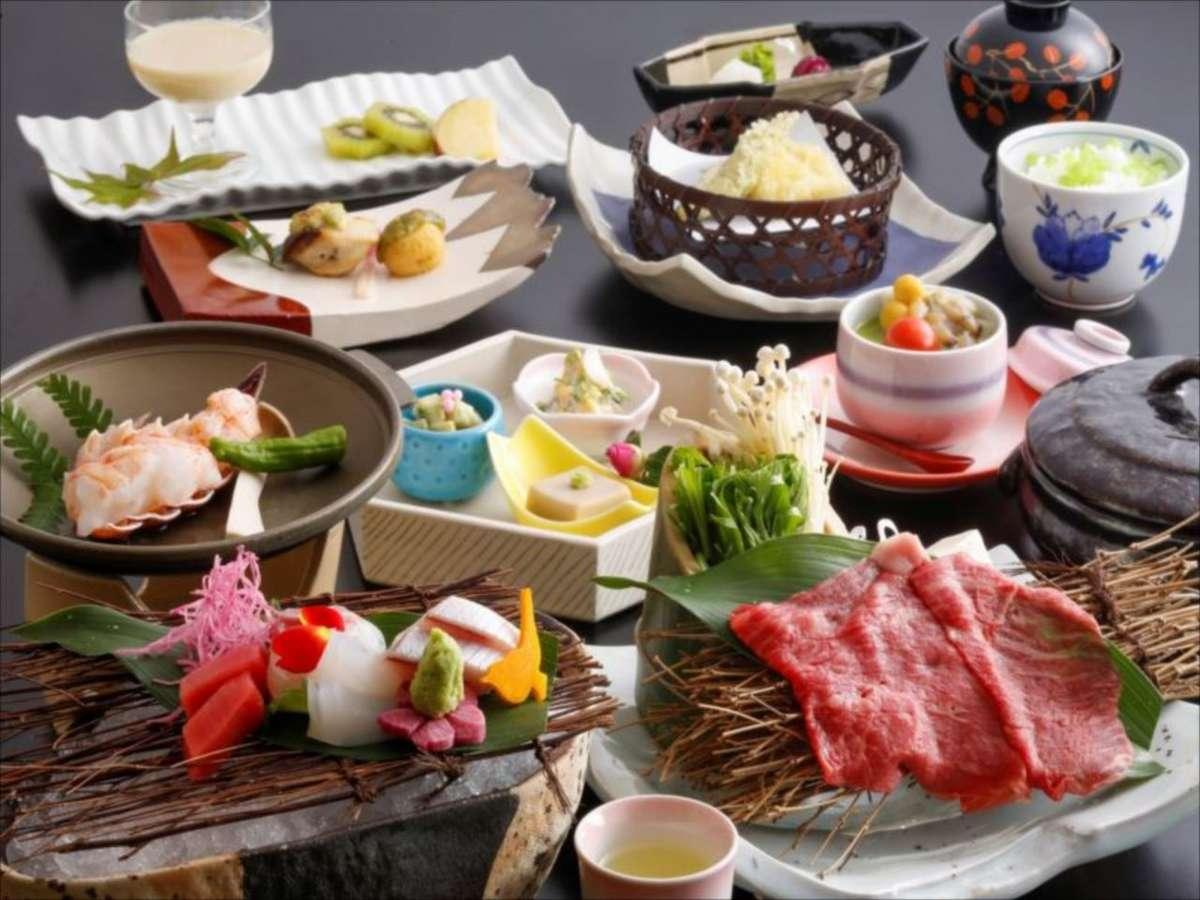 季節の素材をちりばめた季節のお会席料理をお楽しみください。(画像は2020年3月~5月のイメージです)