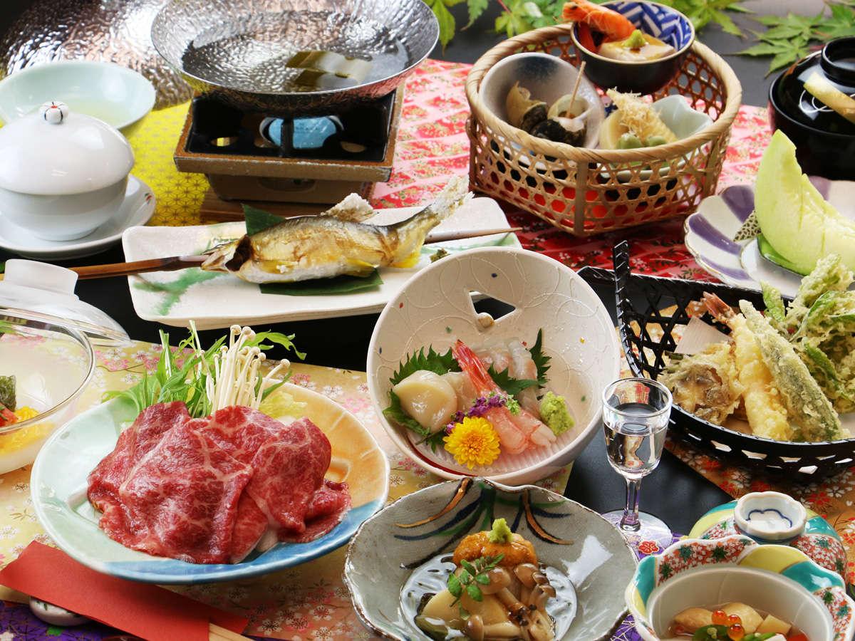 ◆【雪割草】黒毛和牛のしゃぶしゃぶと海の幸、地元野菜の品が自慢の贅沢コース。